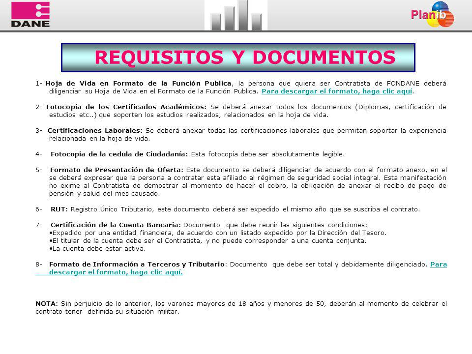REQUISITOS Y DOCUMENTOS