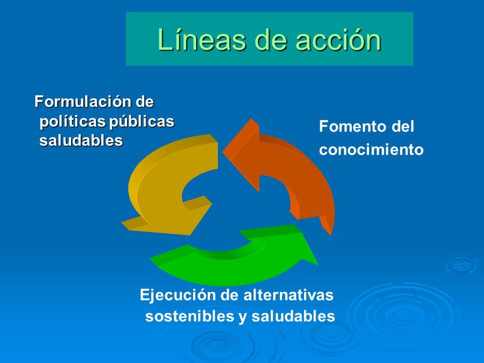 Ejecución de alternativas sostenibles y saludables