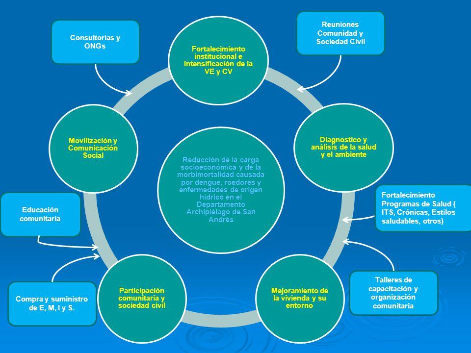 Fortalecimiento institucional e Intensificación de la VE y CV