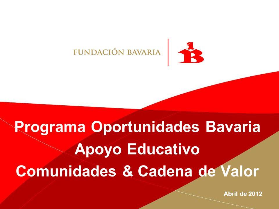 Programa Oportunidades Bavaria Comunidades & Cadena de Valor