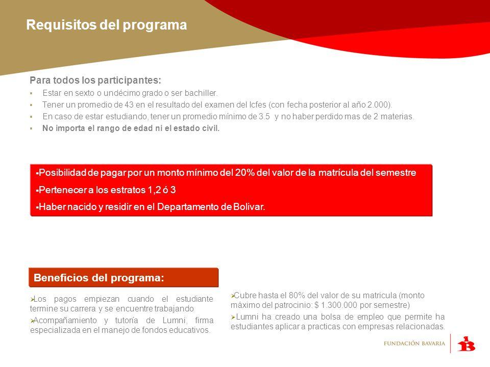 Requisitos del programa