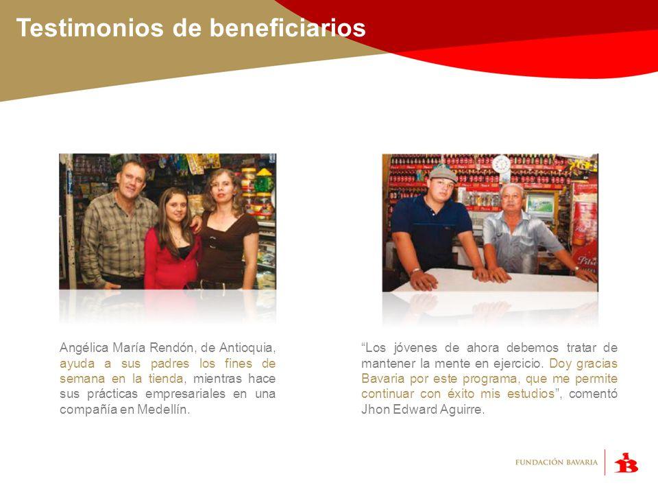 Testimonios de beneficiarios
