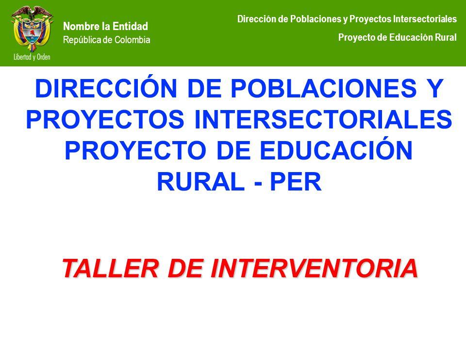 DIRECCIÓN DE POBLACIONES Y PROYECTOS INTERSECTORIALES