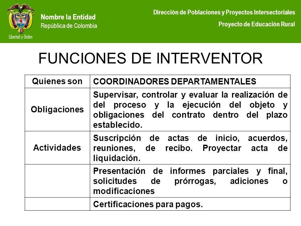 FUNCIONES DE INTERVENTOR