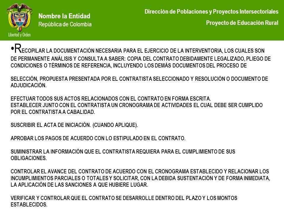 RECOPILAR LA DOCUMENTACIÓN NECESARIA PARA EL EJERCICIO DE LA INTERVENTORIA, LOS CUALES SON DE PERMANENTE ANÁLISIS Y CONSULTA A SABER: COPIA DEL CONTRATO DEBIDAMENTE LEGALIZADO, PLIEGO DE CONDICIONES O TÉRMINOS DE REFERENCIA, INCLUYENDO LOS DEMÁS DOCUMENTOS DEL PROCESO DE SELECCIÓN, PROPUESTA PRESENTADA POR EL CONTRATISTA SELECCIONADO Y RESOLUCIÓN O DOCUMENTO DE ADJUDICACIÓN.