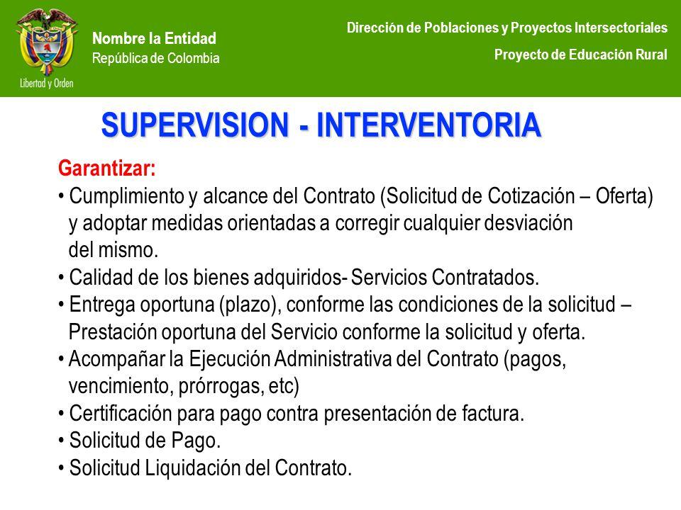 SUPERVISION - INTERVENTORIA