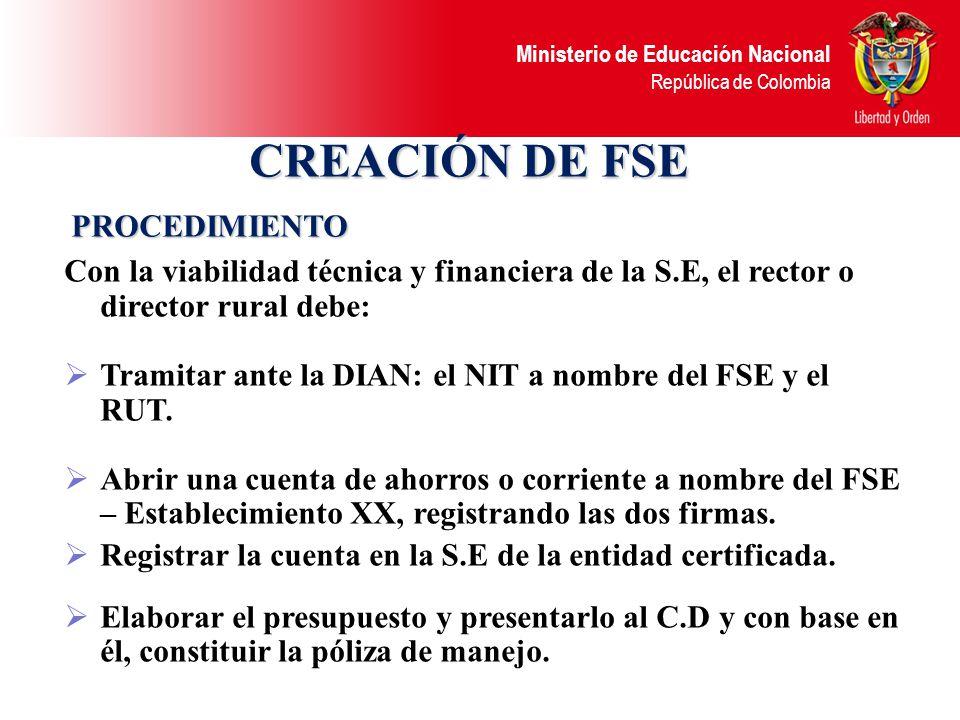 CREACIÓN DE FSE PROCEDIMIENTO
