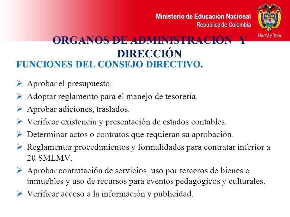 ORGANOS DE ADMINISTRACIÓN Y DIRECCIÓN