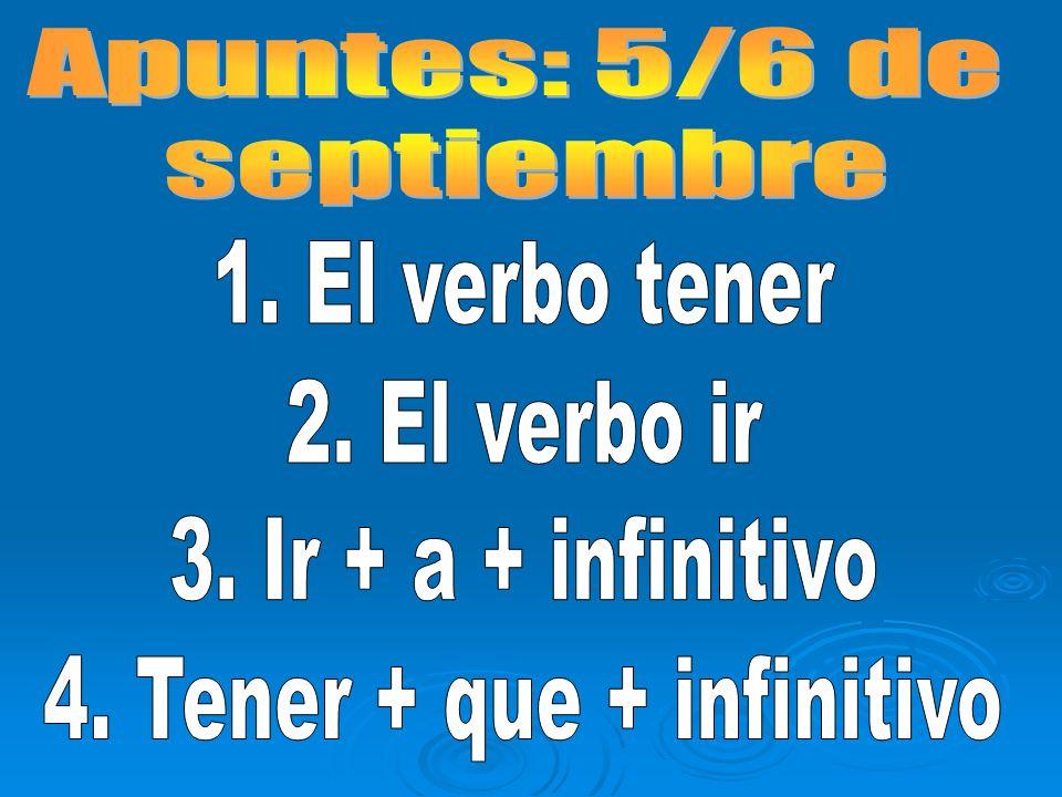 4. Tener + que + infinitivo