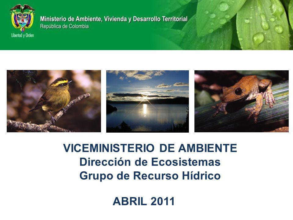 VICEMINISTERIO DE AMBIENTE Dirección de Ecosistemas