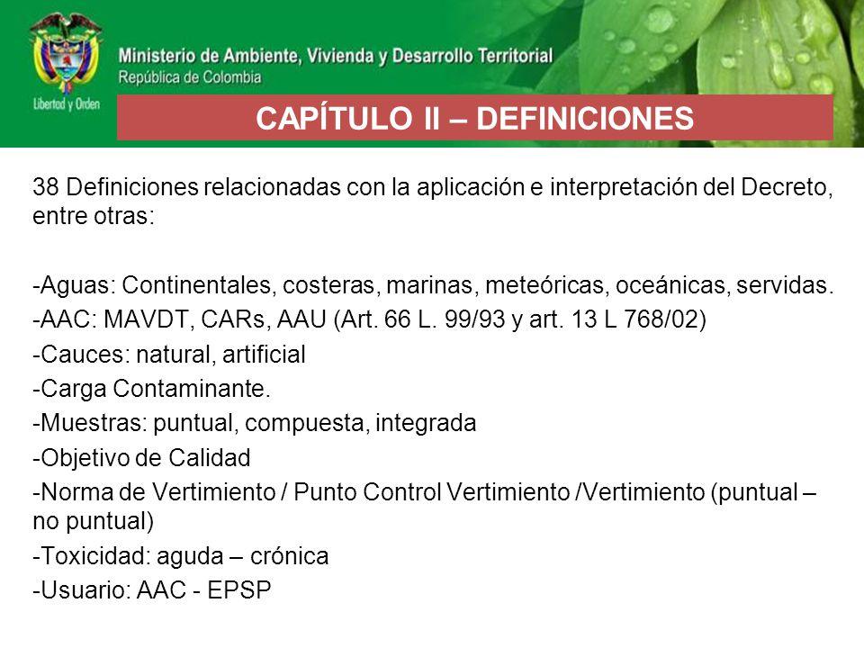 CAPÍTULO II – DEFINICIONES