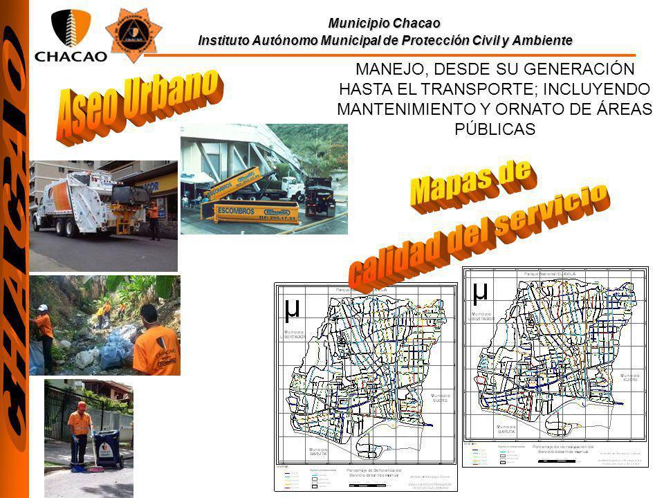 Aseo Urbano Mapas de calidad del servicio