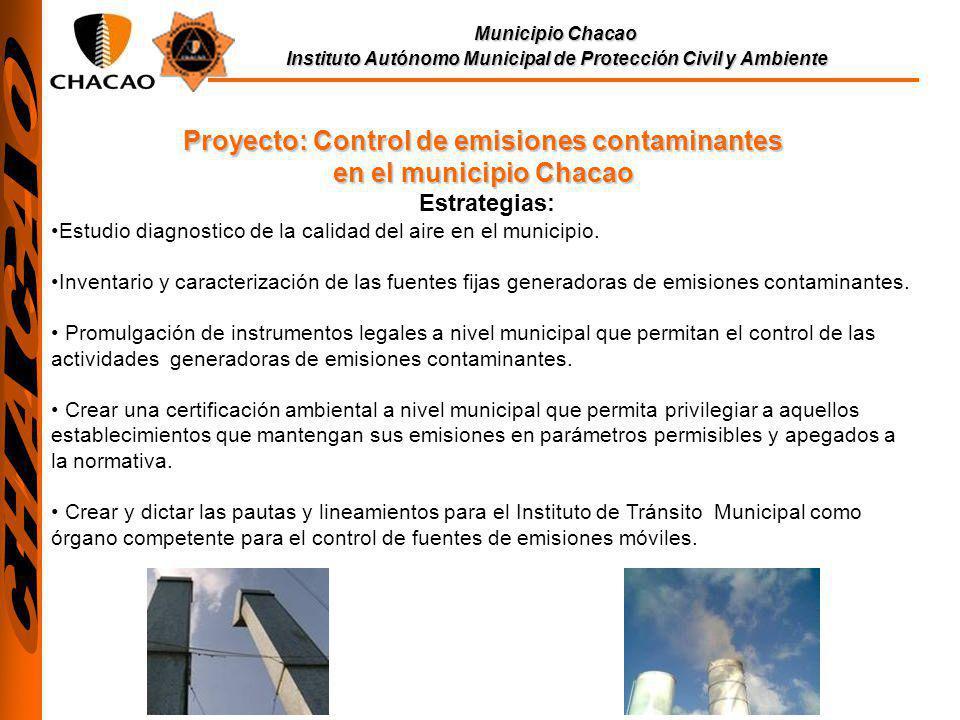 Proyecto: Control de emisiones contaminantes