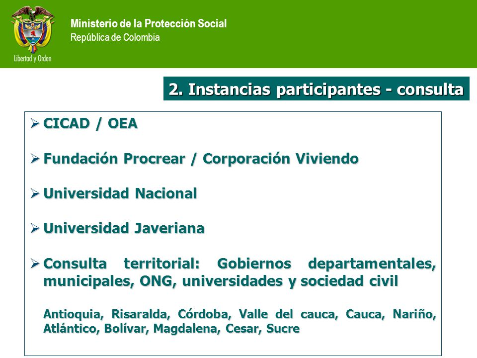 2. Instancias participantes - consulta