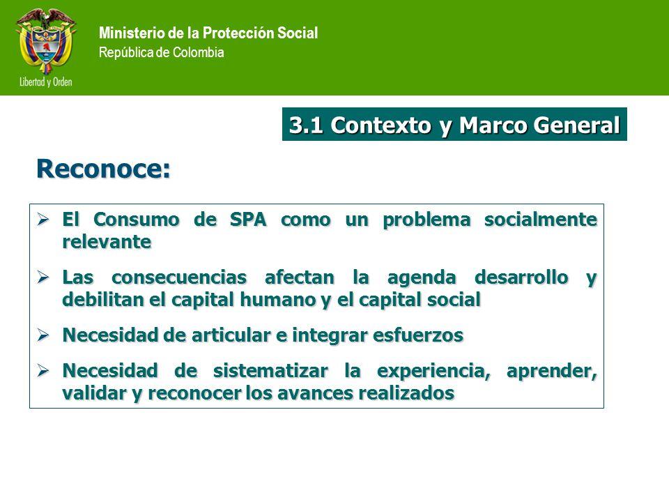 Reconoce: 3.1 Contexto y Marco General