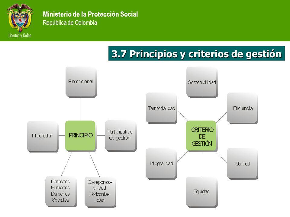 3.7 Principios y criterios de gestión