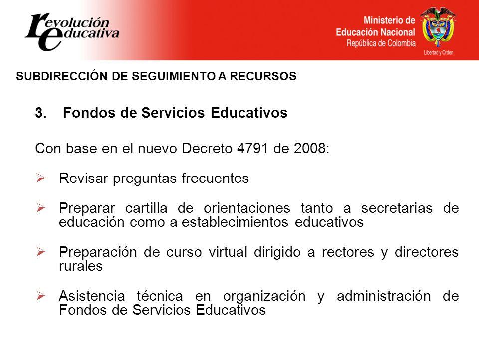 3. Fondos de Servicios Educativos