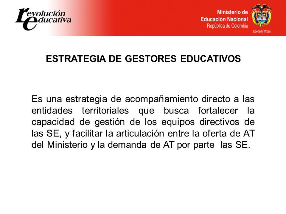 ESTRATEGIA DE GESTORES EDUCATIVOS