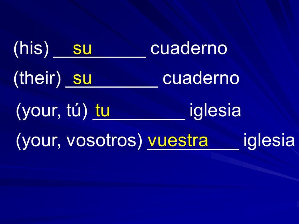 (his) _________ cuaderno