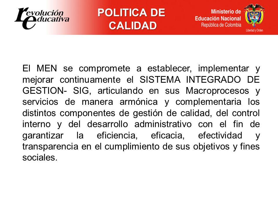POLITICA DE CALIDAD.
