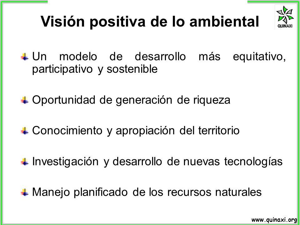 Visión positiva de lo ambiental