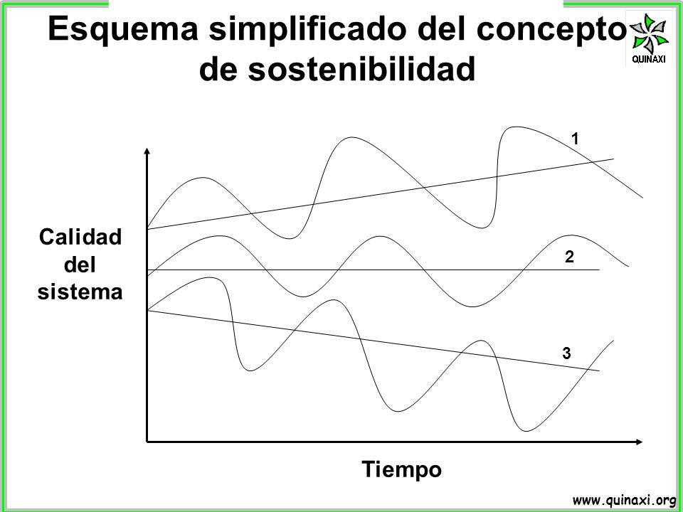 Esquema simplificado del concepto de sostenibilidad