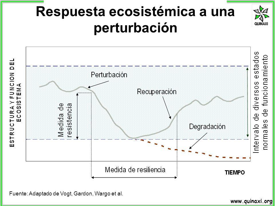 Respuesta ecosistémica a una perturbación