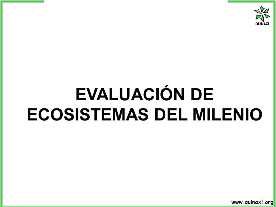 EVALUACIÓN DE ECOSISTEMAS DEL MILENIO