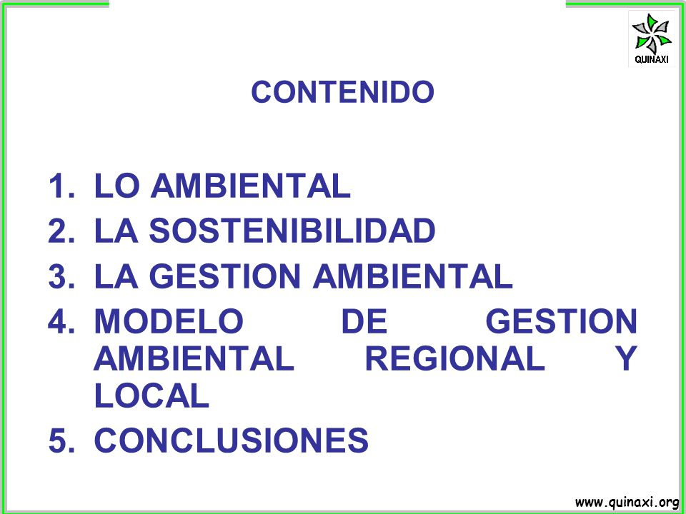 MODELO DE GESTION AMBIENTAL REGIONAL Y LOCAL