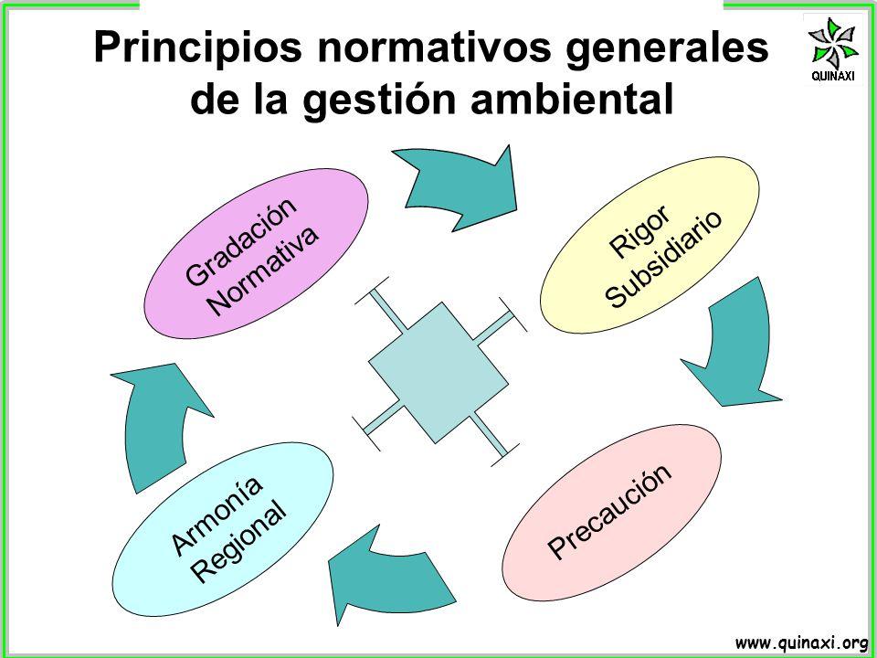 Principios normativos generales de la gestión ambiental