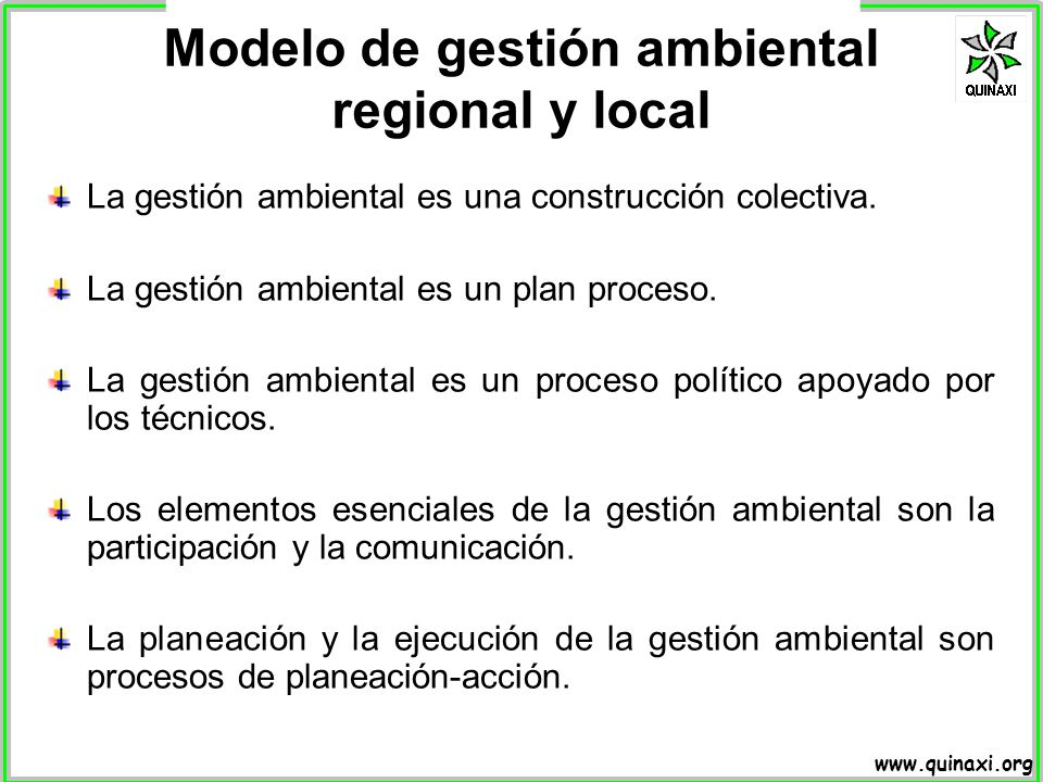 Modelo de gestión ambiental regional y local