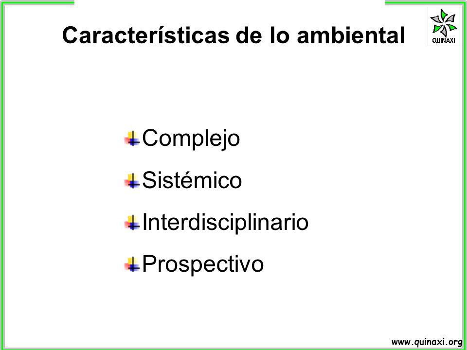 Características de lo ambiental