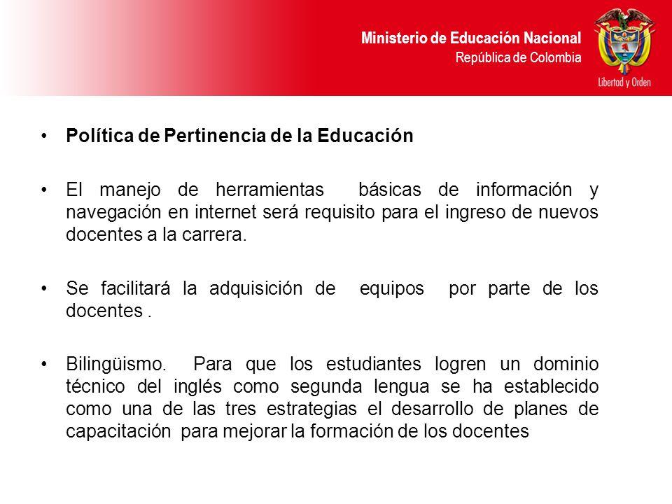 Política de Pertinencia de la Educación