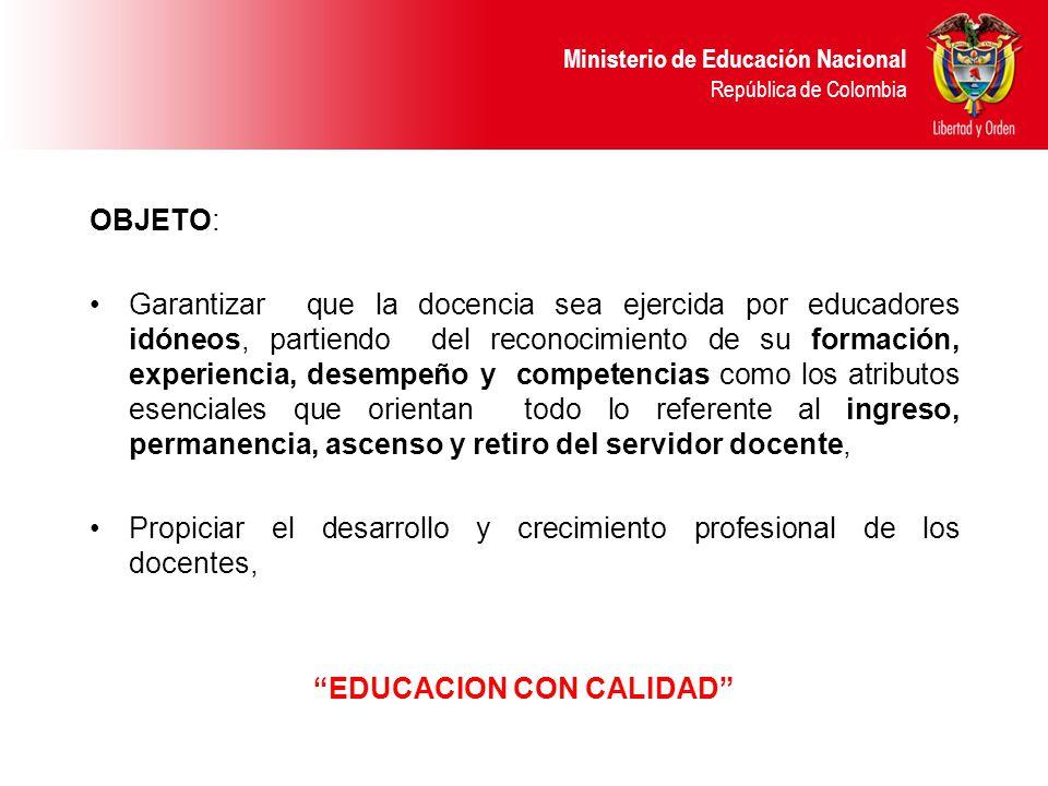 EDUCACION CON CALIDAD