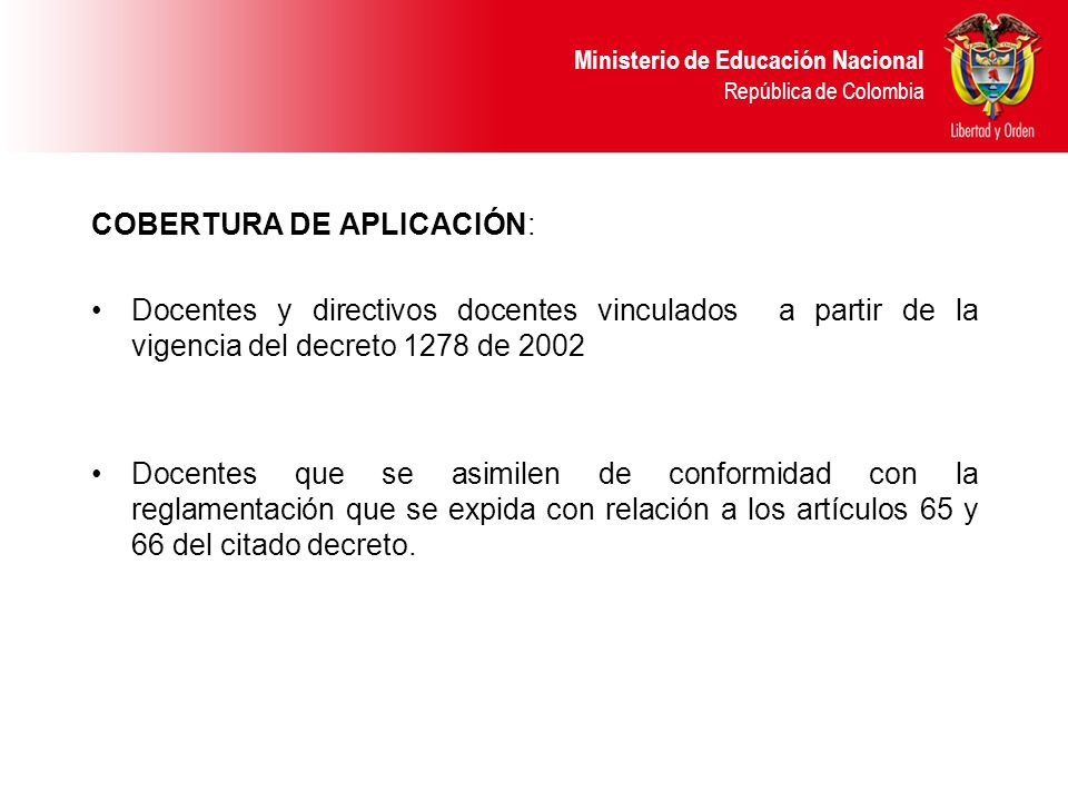 COBERTURA DE APLICACIÓN: