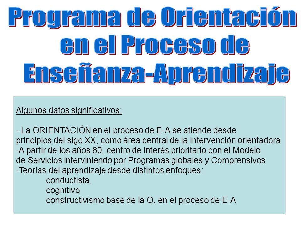 Programa de Orientación en el Proceso de Enseñanza-Aprendizaje