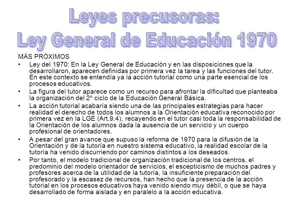 Ley General de Educación 1970