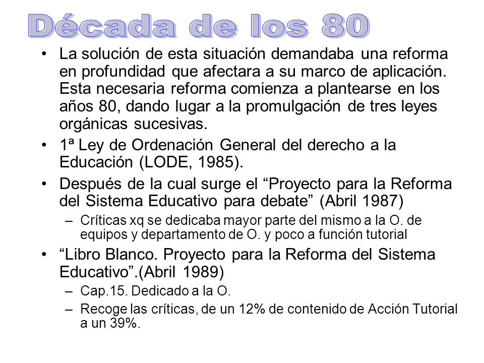 Década de los 80