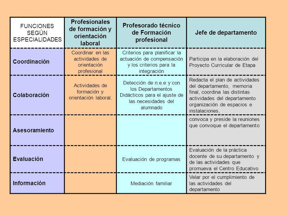 Profesionales de formación y orientación laboral