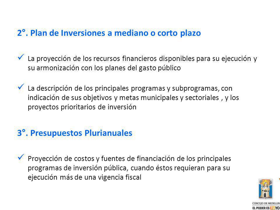 2°. Plan de Inversiones a mediano o corto plazo