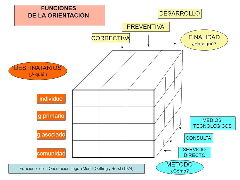 Funciones de la Orientación según Morrill,Oetting y Hurst (1974)