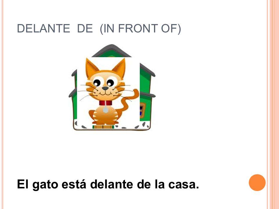 DELANTE DE (IN FRONT OF)