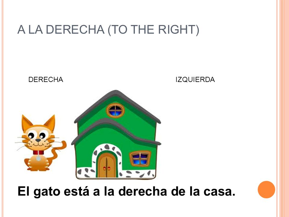 A LA DERECHA (TO THE RIGHT)