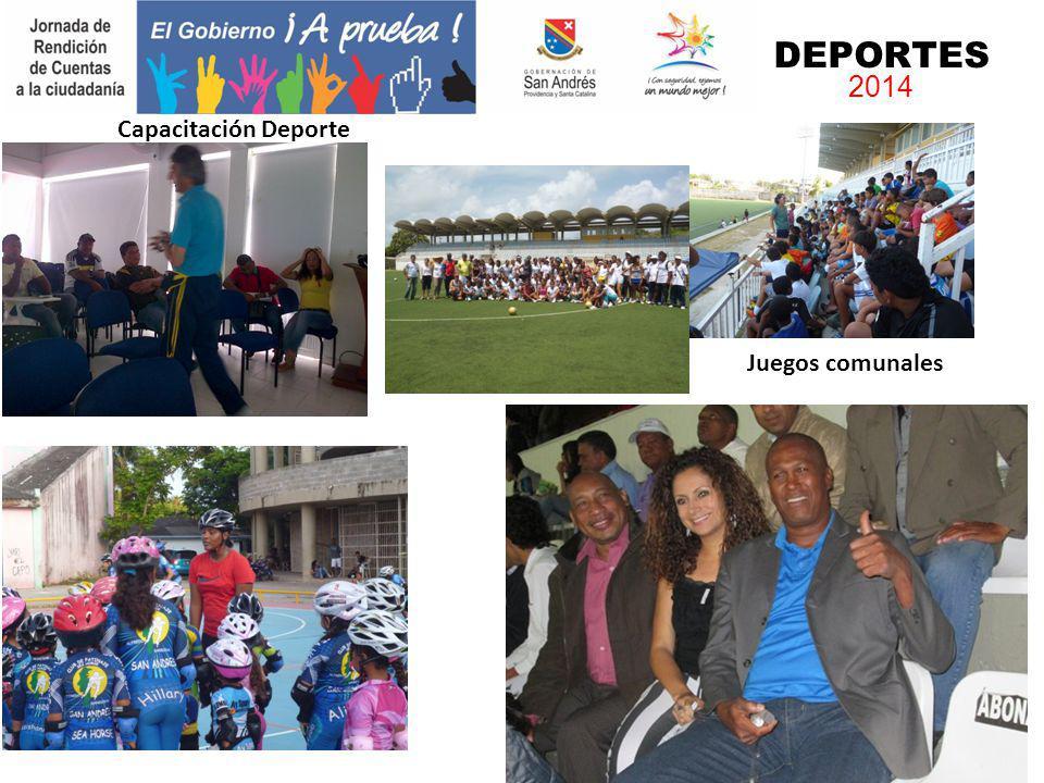 DEPORTES 2014 Capacitación Deporte Juegos comunales