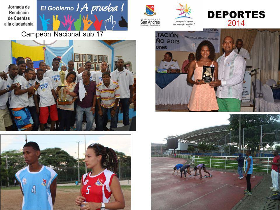 DEPORTES 2014 Campeón Nacional sub 17 Deportista del Año