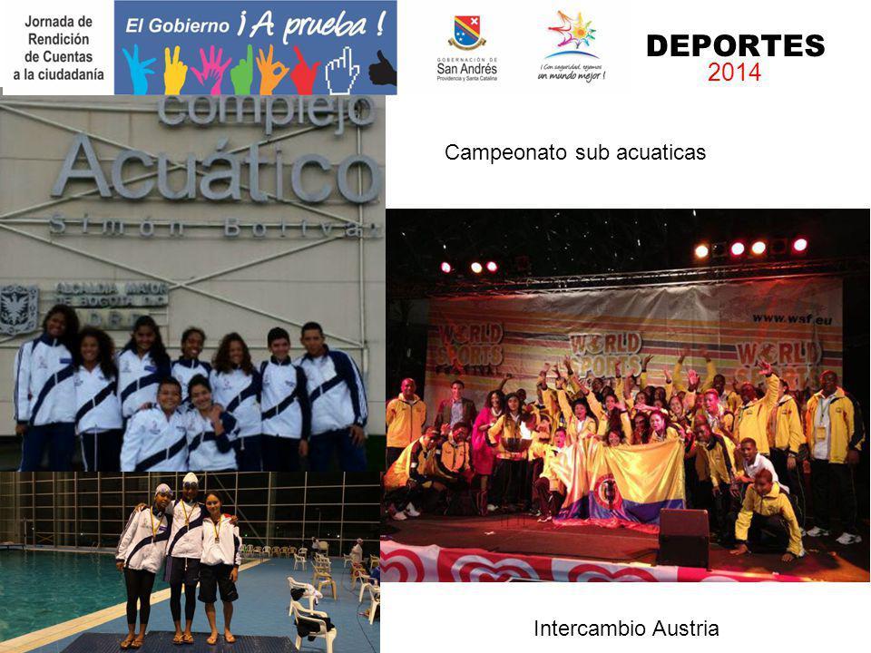 DEPORTES 2014 Campeón Nacional sub 17 Campeonato sub acuaticas