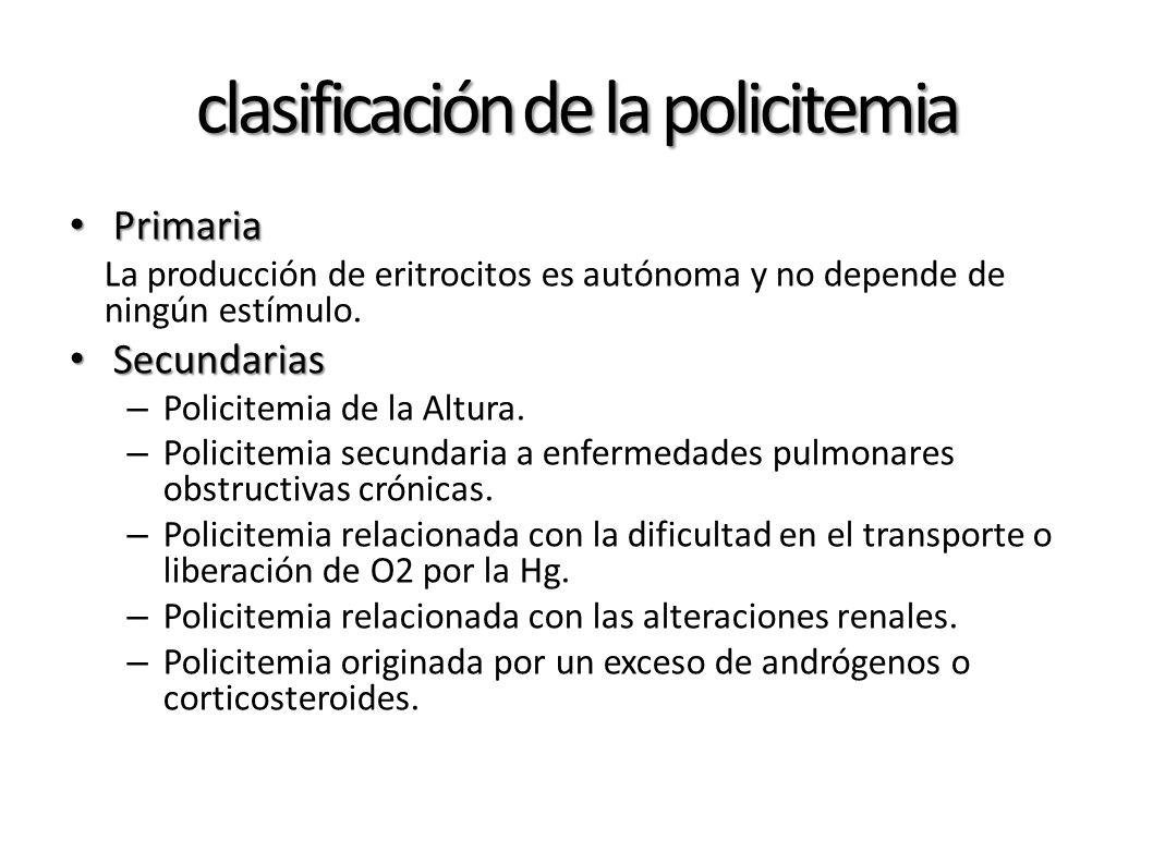 clasificación de la policitemia