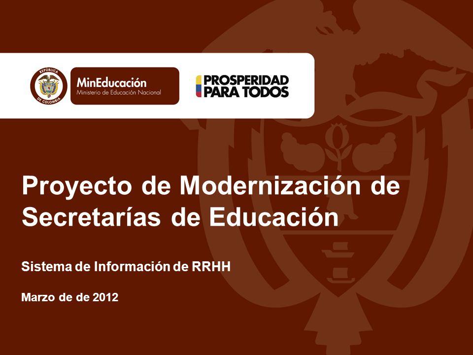 Proyecto de Modernización de Secretarías de Educación