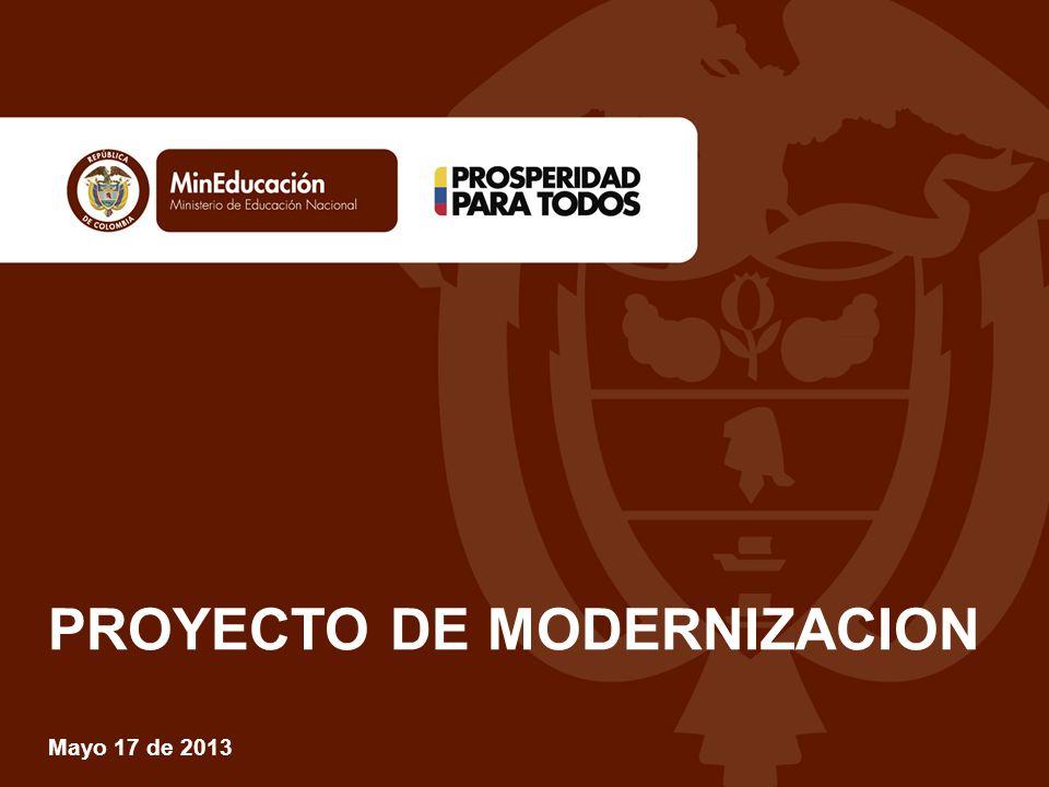 PROYECTO DE MODERNIZACION Mayo 17 de 2013