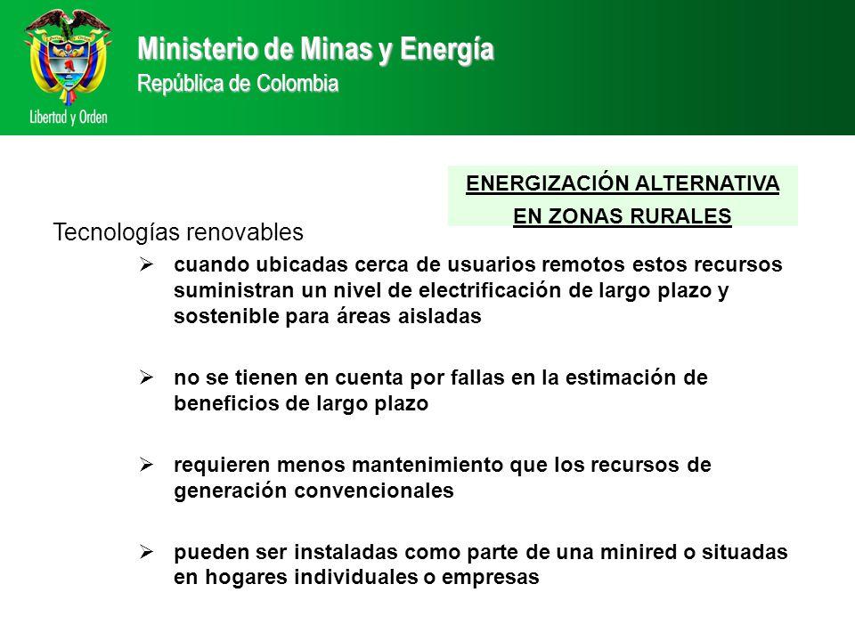 ENERGIZACIÓN ALTERNATIVA EN ZONAS RURALES